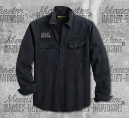 Harley-Davidson® Men's Motorcycle Long Sleeve Shirt 96110-20VM