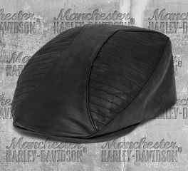 Harley-Davidson® Men's Leather & Coated Twill Ivy Cap 97612-20VM