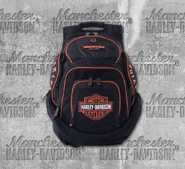 Harley-Davidson® Men's Deluxe Backpack, Leather Accessory Source BP1900S