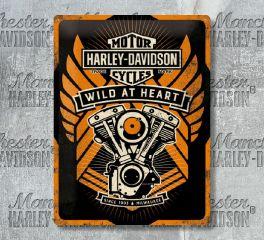 Harley-Davidson® Wild at Heart Tin Sign, Nostalgic Art 63310