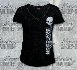 Harley-Davidson® Women's Black Swell G Short Sleeve Tee, RK Stratman Inc. R003496