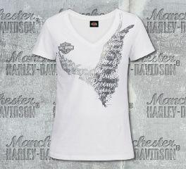 Harley-Davidson® Women's White Absolutely Short Sleeve Tee, RK Stratman Inc. R003500