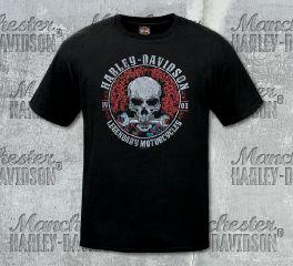 Harley-Davidson® Men's Black Clown Round Short Sleeve Tee, RK Stratman Inc. R003447
