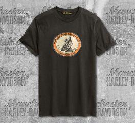 Harley-Davidson® Men's Black Racing Circle Short Sleeve Tee 96286-20VM