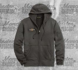 Harley-Davidson® Men's Grey Racing Circle Hoodie 96287-20VM