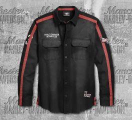 Harley-Davidson® Men's Black Stripe Over Long Sleeve Shirt 96302-20VM