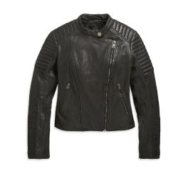 Harley-Davidson® Leather Biker Sim Fit Jacket 98608-20VW