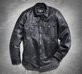 Harley-Davidson® Men's Long-Sleeve Leather Shirt 98068-13VM