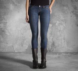Harley-Davidson® Women's Dark Wash Skinny Jean 99125-13VW