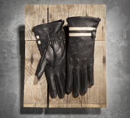 Harley-Davidson® Women's Dundee Leather Full-Finger Gloves with Touchscreen Technology 97200-14VW
