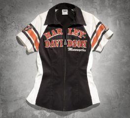 Harley-Davidson® Women's Iconic Short-Sleeve Woven Shirt 99148-14VW