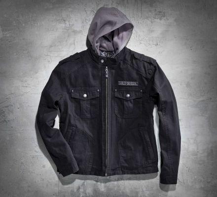 Harley-Davidson® Men's Skull 3-in-1 Canvas Jacket 98415-08VM