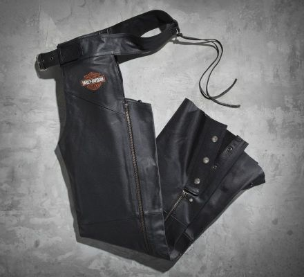 Harley-Davidson® Men's Stock Leather Chaps 98090-06VM
