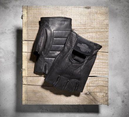 Harley-Davidson® Men's Perforated Fingerless Gloves 98182-99VM