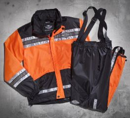 Harley-Davidson® Men's Hi-Vis Orange Rain Suit 98275-08VM