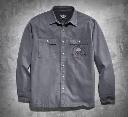 Harley-Davidson® Men's Skull Shirt Jacket 99011-11VM