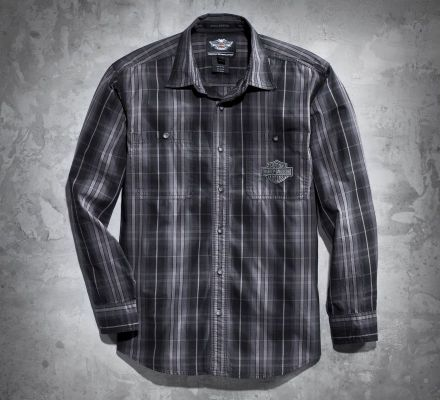Harley-Davidson® Men's Tradition Plaid Long Sleeve Shirt 99037-11VM