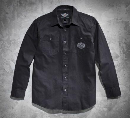 Harley-Davidson® Men's Tonal Flames Long-Sleeve Shirt 99072-12VM