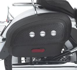 Harley-Davidson® Locking Rigid Saddlebags for Softail Deluxe Models 53015-05B