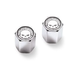 Harley-Davidson® Willie G. Skull Chrome-Plated ABS Valve Stem Caps 41171-03