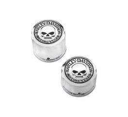 Harley-Davidson® Willie G. Skull Rear Axle Nut Covers 43221-08