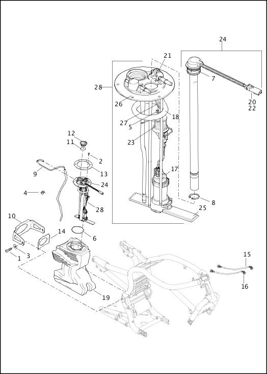 Harley Davidson Fuel Module Assy 75310-07